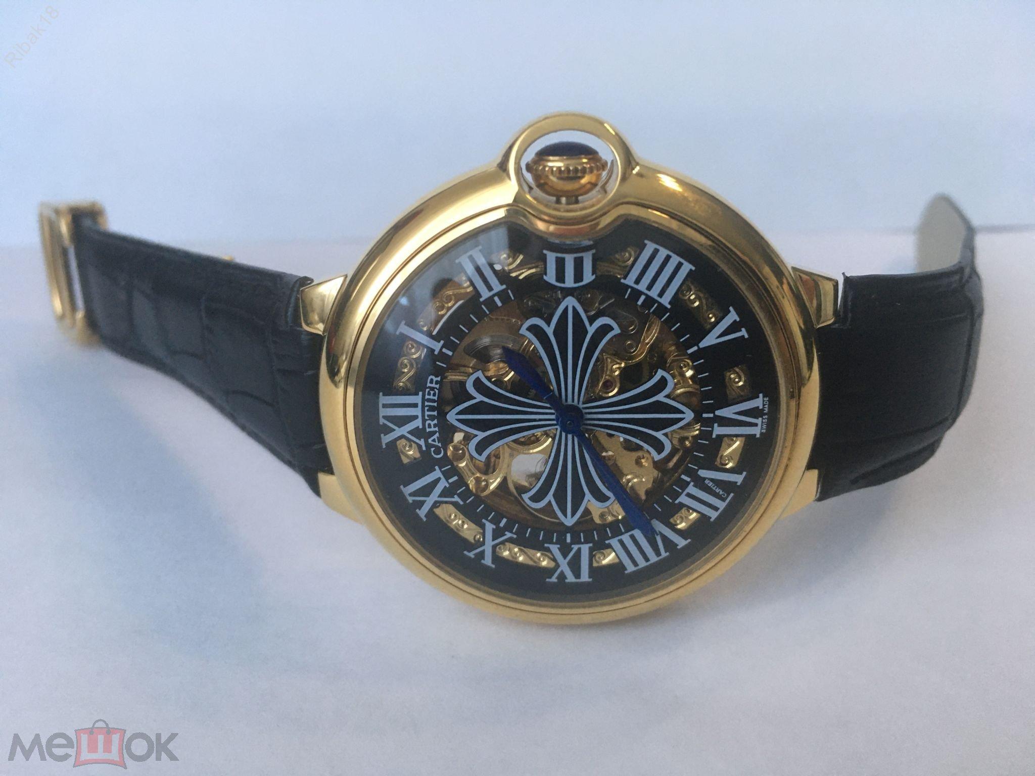 Cartier watch automatic mens часы мужские механические швейцарские