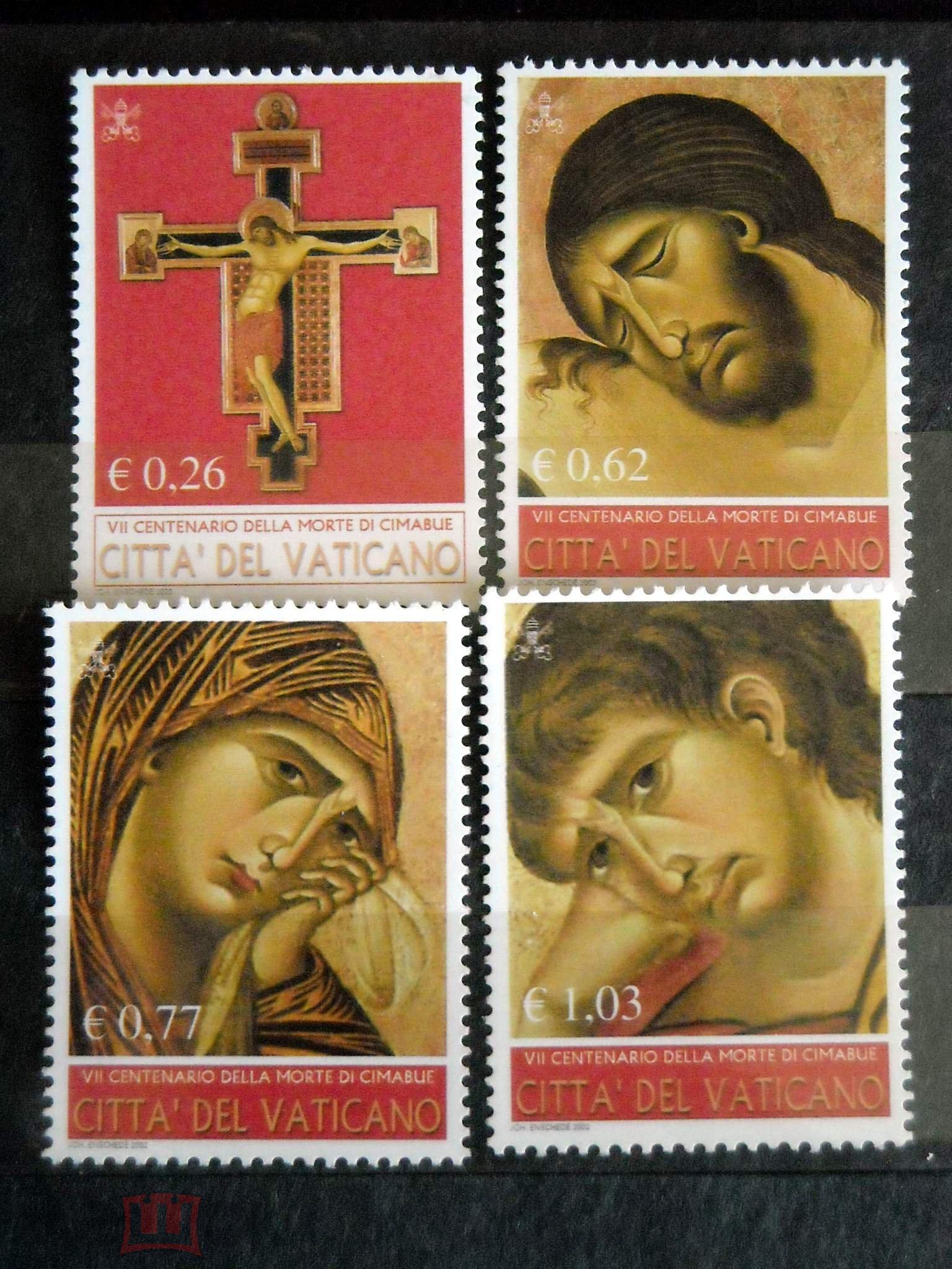 Ватикан 2002 (Ми-1417-20) Живопись искусство**