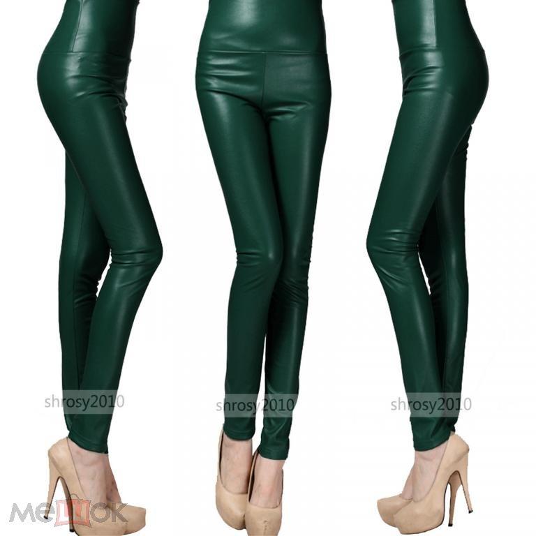 32e5d8432668f лосины леггинсы под кожу зеленые (торги завершены #27544376)