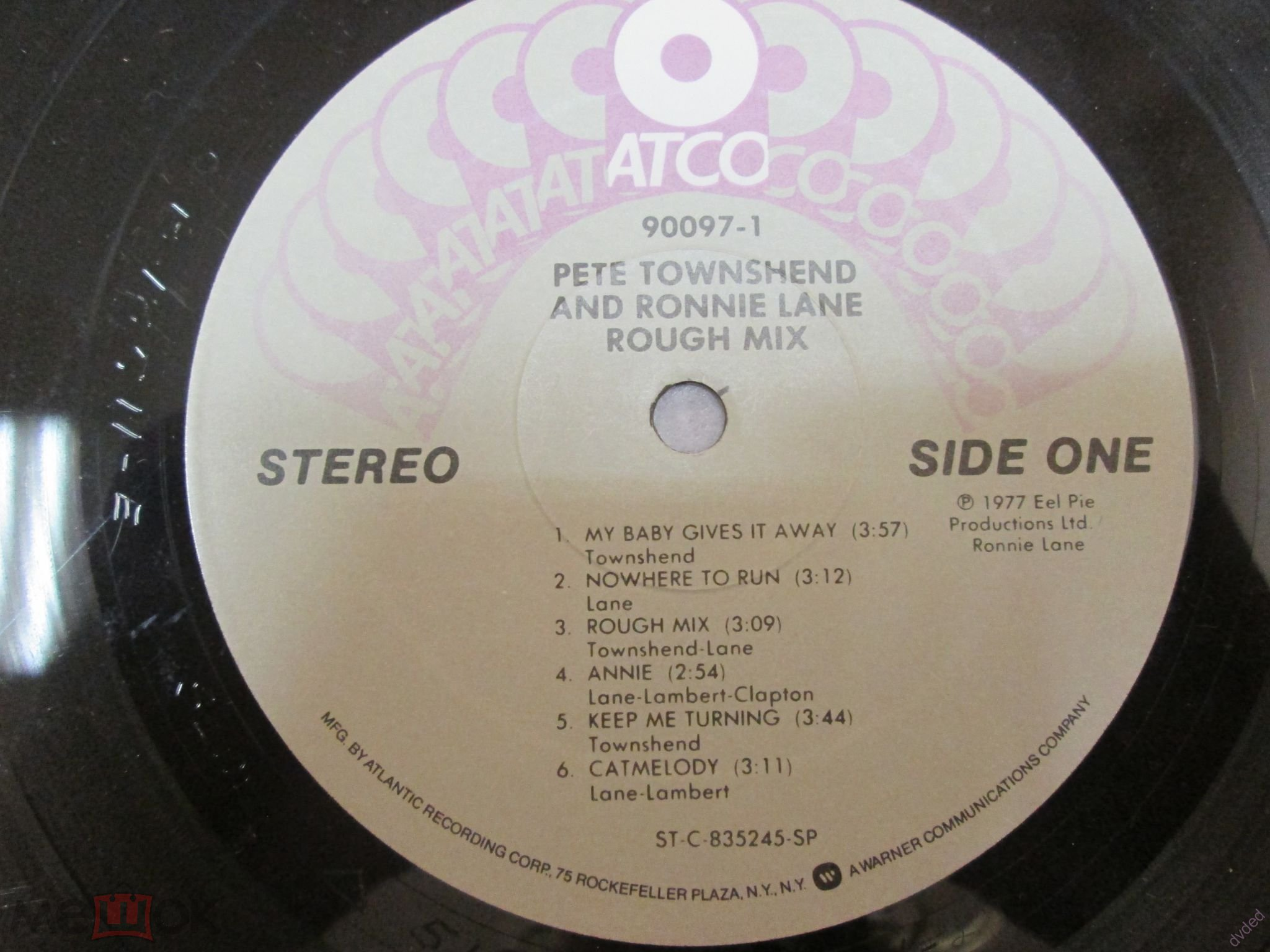 Pete Townshend / Ronnie Lane – Rough Mix - Atco Records-US