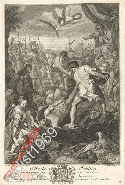 БОЛЬШОЙ ЛИСТ 1776 г. МУЧЕНИЧЕСТВО СВЯТОГО ВИТАЛИЯ