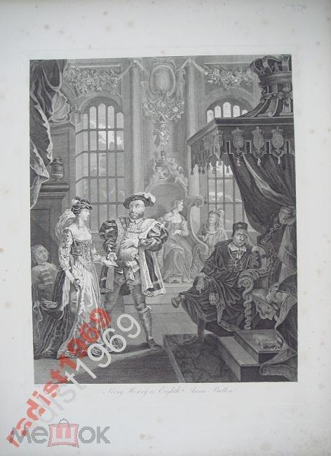 Ок. 1820 г. КОРОЛЬ ГЕНРИХ VIII и АННА БОЛЕЙН