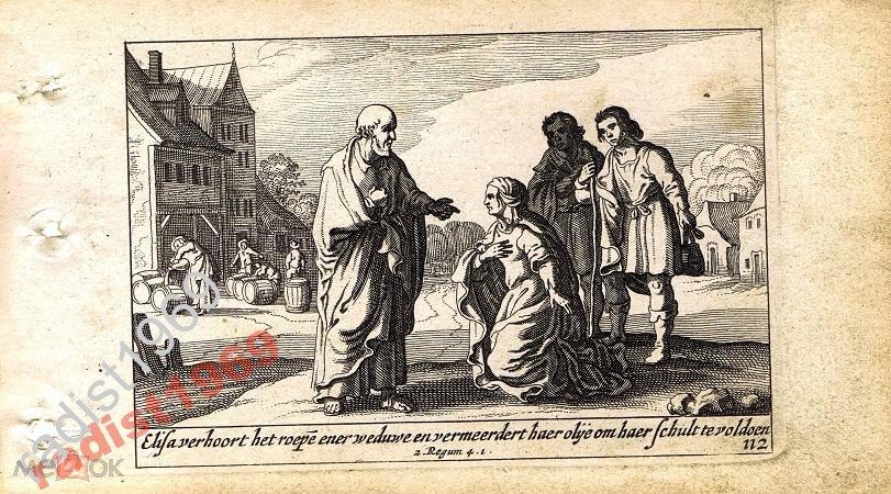 1659 г. БИБЛЕЙСКАЯ ИСТОРИЯ. СХЮТ. ВДОВА И ЕЛИСЕЙ