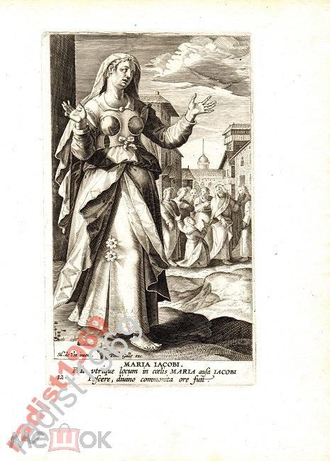 Ок. 1594 г ЖЕНЩИНЫ НОВОГО ЗАВЕТА. МАРИЯ. РЕДКОСТЬ!