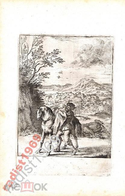1665 г. БАСНИ ЭЗОПА. ЛОШАДЬ И ОСЁЛ. ДИРК СТУП!