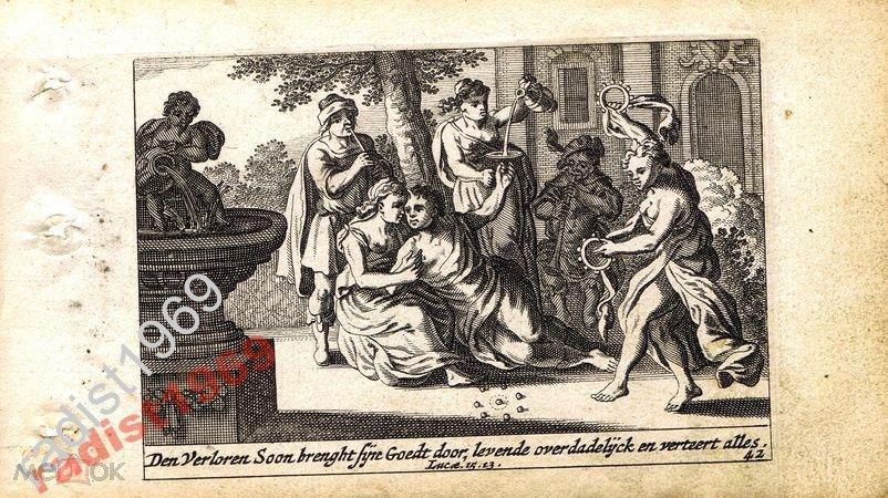 1659  БИБЛЕЙСКАЯ ИСТОРИЯ. РАСПУТСТВО БЛУДНОГО СЫНА