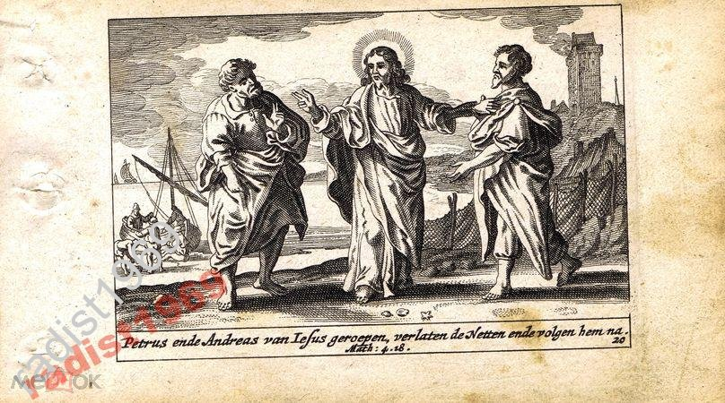 1659 г. БИБЛЕЙСКАЯ ИСТОРИЯ. ПЁТР И АНДРЕЙ, УЧЕНИКИ