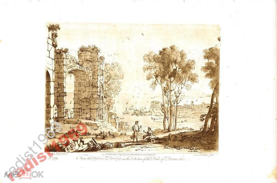1775 (1809) г. ИРЛОМ. ЛОРРЕН. ПЕЙЗАЖ С РУИНАМИ