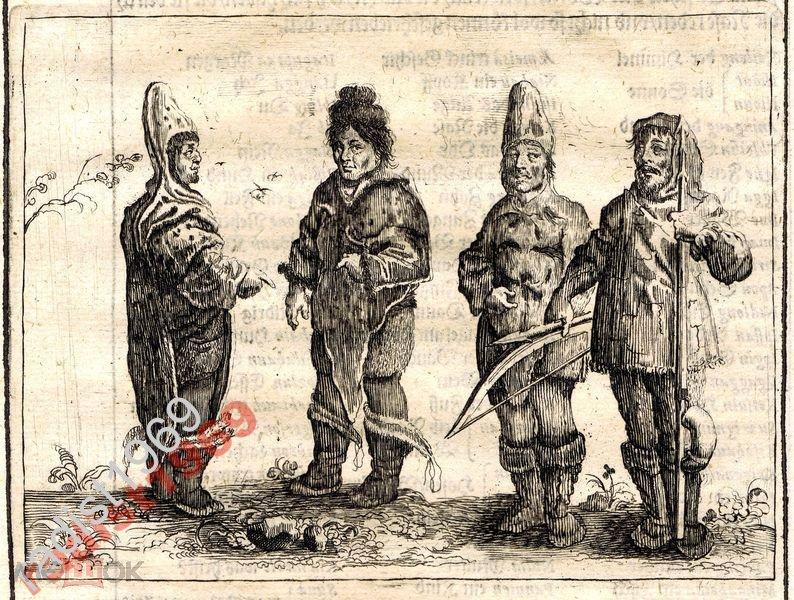 1663 г. ОЛЕАРИЙ. ГРЕНЛАНДЦЫ. ГРЕНЛАНДИЯ