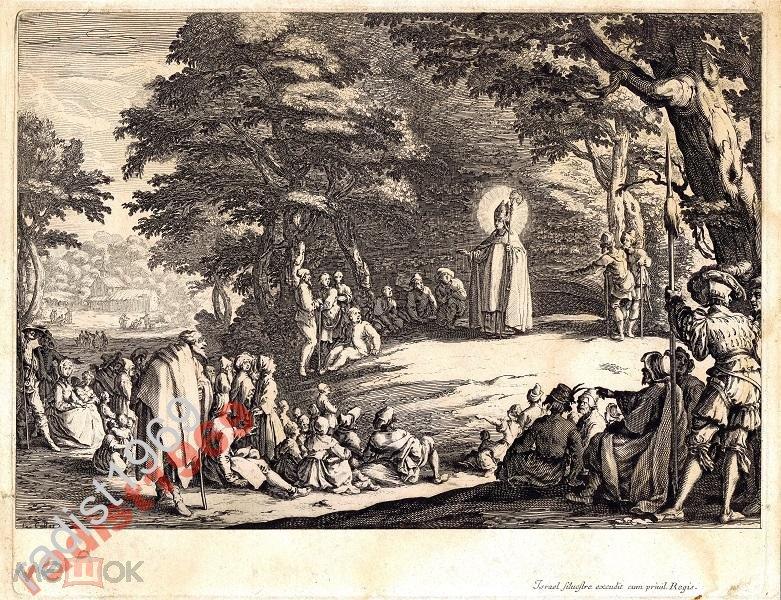 Доска 1625 (оттиск 1740) г. ЖАК КАЛЛО! СВЯТОЙ АМО