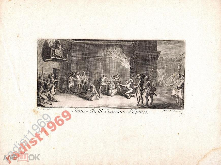 Ок 1620 (1770) г. ЖАК КАЛЛО! КОРОНОВАНИЕ ВЕНЦОМ