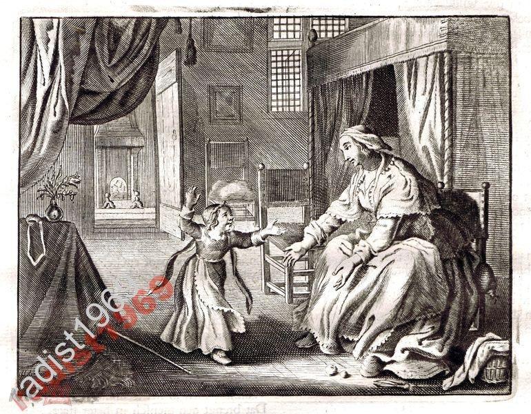 Ок. 1630 (1700) г. КАТС. МАТЬ, ИГРАЮЩАЯ С РЕБЁНКОМ