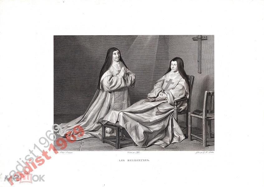 БОЛЬШОЙ ЛИСТ 1803-1809 г. МОНАХИНИ. МОНАШКА