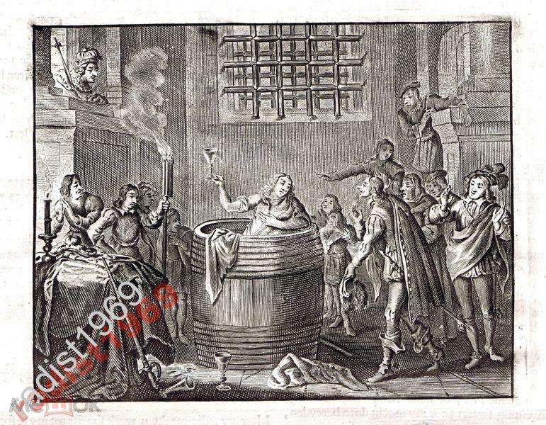 Ок. 1630 (1700) г. КАТС. ДЕГУСТАЦИЯ ВИНА В БОЧКЕ