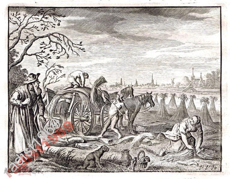 Ок. 1630 (1700) г. СЕЛЬСКАЯ СЦЕНА. ЖНЕЦЫ. СНОПЫ