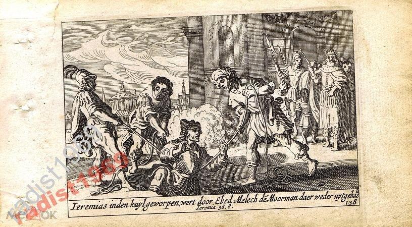 1659 г. БИБЛЕЙСКАЯ ИСТОРИЯ. ИЕРЕМИЮ ТАЩАТ ИЗ ЯМЫ