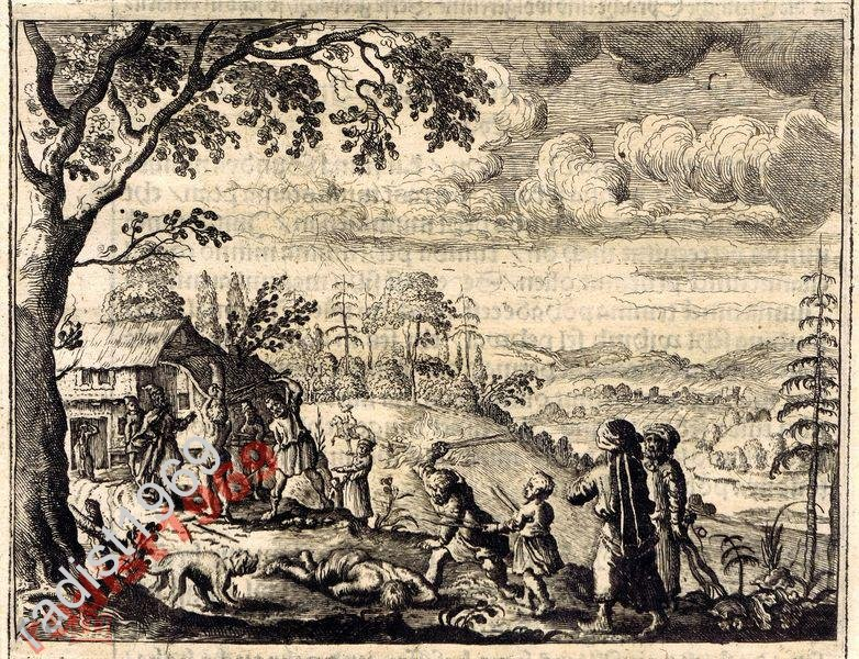 1663 г. ОЛЕАРИЙ. РОССИЯ. НАКАЗАНИЕ ПАЛКАМИ НА РУСИ