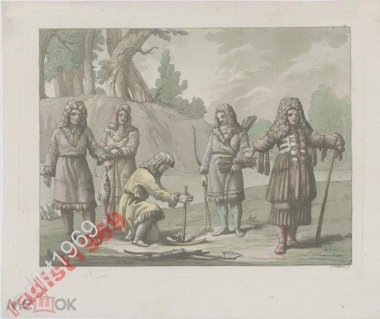 Ок. 1818 г. ЖИТЕЛИ КАМЧАТКИ. КАМЧАДАЛЫ. КАМЧАТКА