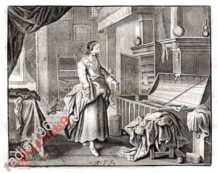 Ок. 1630 (1700) г. КАТС. ЖЕНЩИНА СО СВОИМ СКАРБОМ