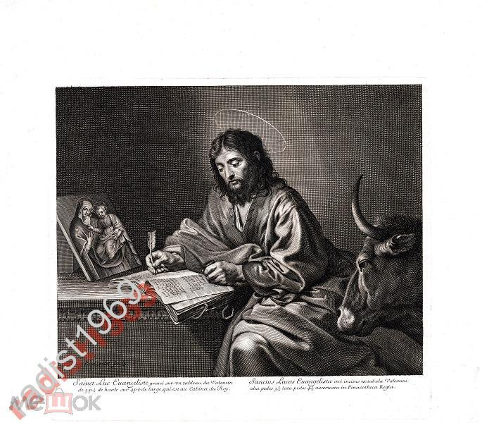 БОЛЬШОЙ ЛИСТ 1780 (1671) г. СВЯТОЙ ЛУКА ЕВАНГЕЛИСТ