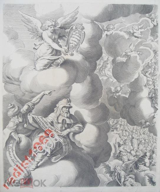 БОЛЬШОЙ ЛИСТ 1750 г. СТРАШНЫЙ СУД. ПИТЕР ДЕ ЙОДЕ!
