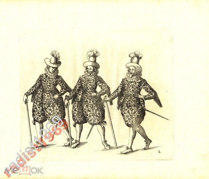 1611 г `ИГРЫ РЫЦАРЕЙ` БАЛЬТАЗАР КЮХЛЕР. ТРИ РЫЦАРЯ
