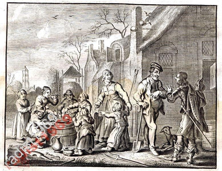Ок. 1630 (1700) г. КАТС. ОБЕД БЕДНЯКОВ НА УЛИЦЕ