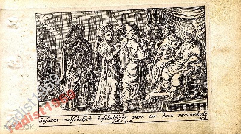 1659 г. БИБЛЕЙСКАЯ ИСТОРИЯ. СХЮТ. СУД НАД СУСАННОЙ