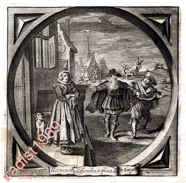 1632 (1700) г. НЕВОЛЬНАЯ СОБАКА И ЗАЙЦА НЕ ПОЙМАЕТ