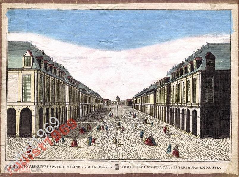 БОЛЬШОЙ ЛИСТ 1770-е ПАНОРАМА САНКТ-ПЕТЕРБУРГА