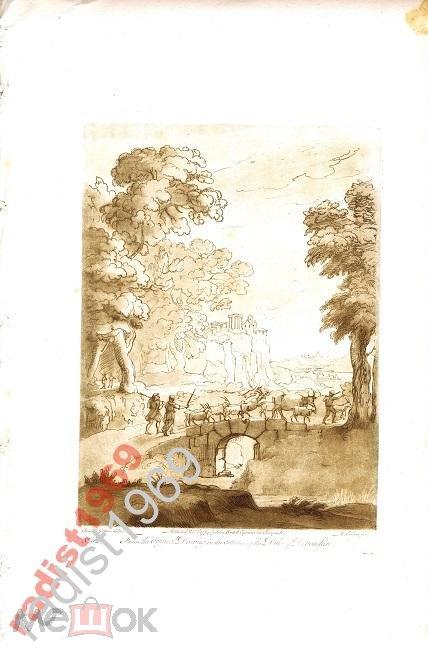 1774 (1809) г. ИРЛОМ. ЛОРРЕН. ПАСТУХИ И СТАДО КОЗ