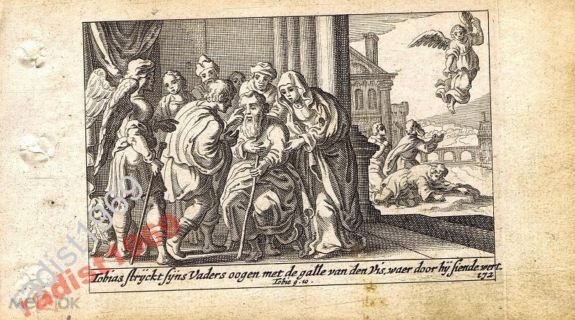 1659 г. БИБЛЕЙСКАЯ ИСТОРИЯ. СХЮТ. ПРОЗРЕНИЕ ТОВИТА