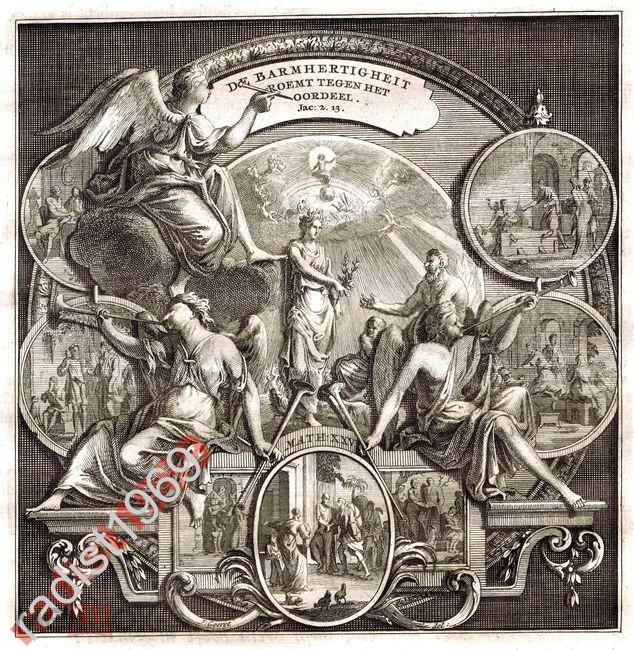 ГРАВЮРА ок. 1700 г. ЯН ГУРЕ. БИБЛЕЙСКИЕ ПРИТЧИ 2