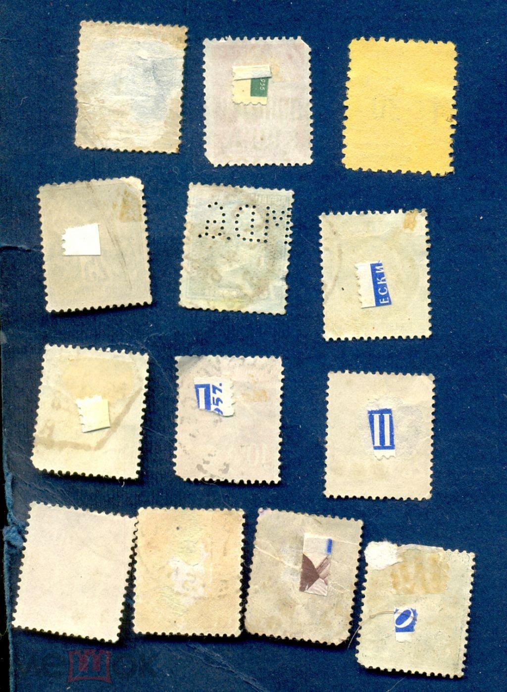 Франция 1876-1945 Набор из 13 гашеных марок.Стандарт Фр-67