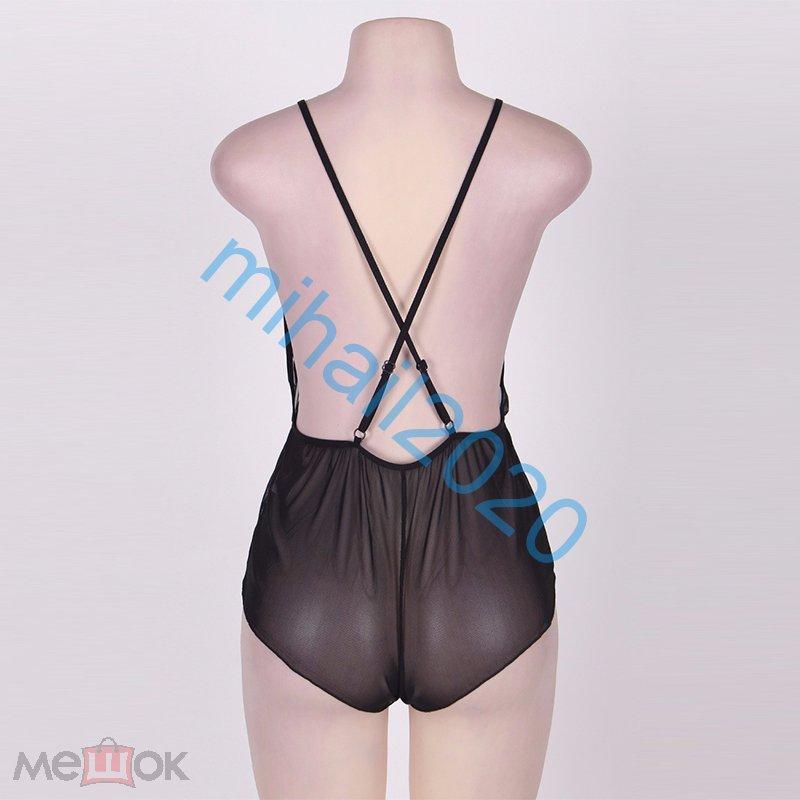 Сексуальное боди №1 чёрное размер M-5XL !!!!!!