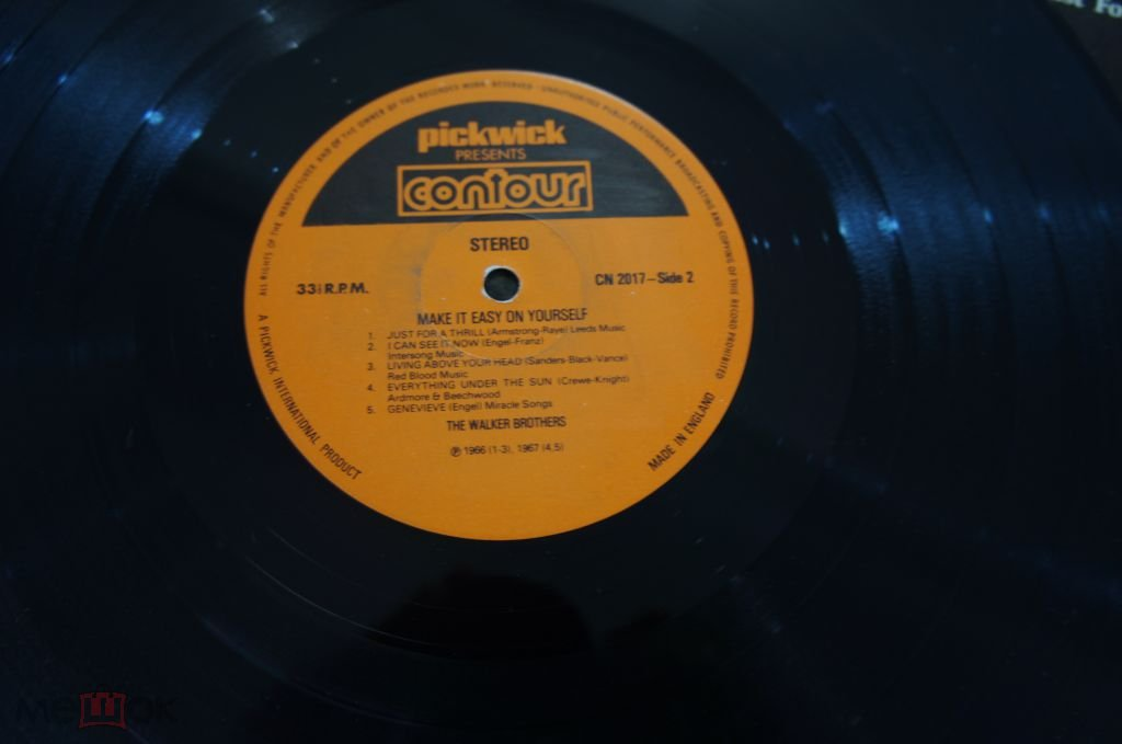 The Walker Brothers – Make It Easy On Yourself Contour UK  LP MINT-