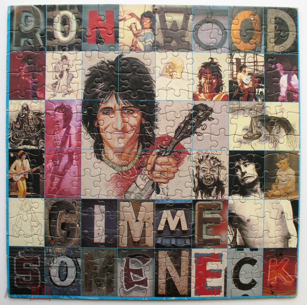 Ron Wood Gimme Some Neck  1979 Promo LP  +Puzzle USA NM Columbia WLP Rolling Stones Faces