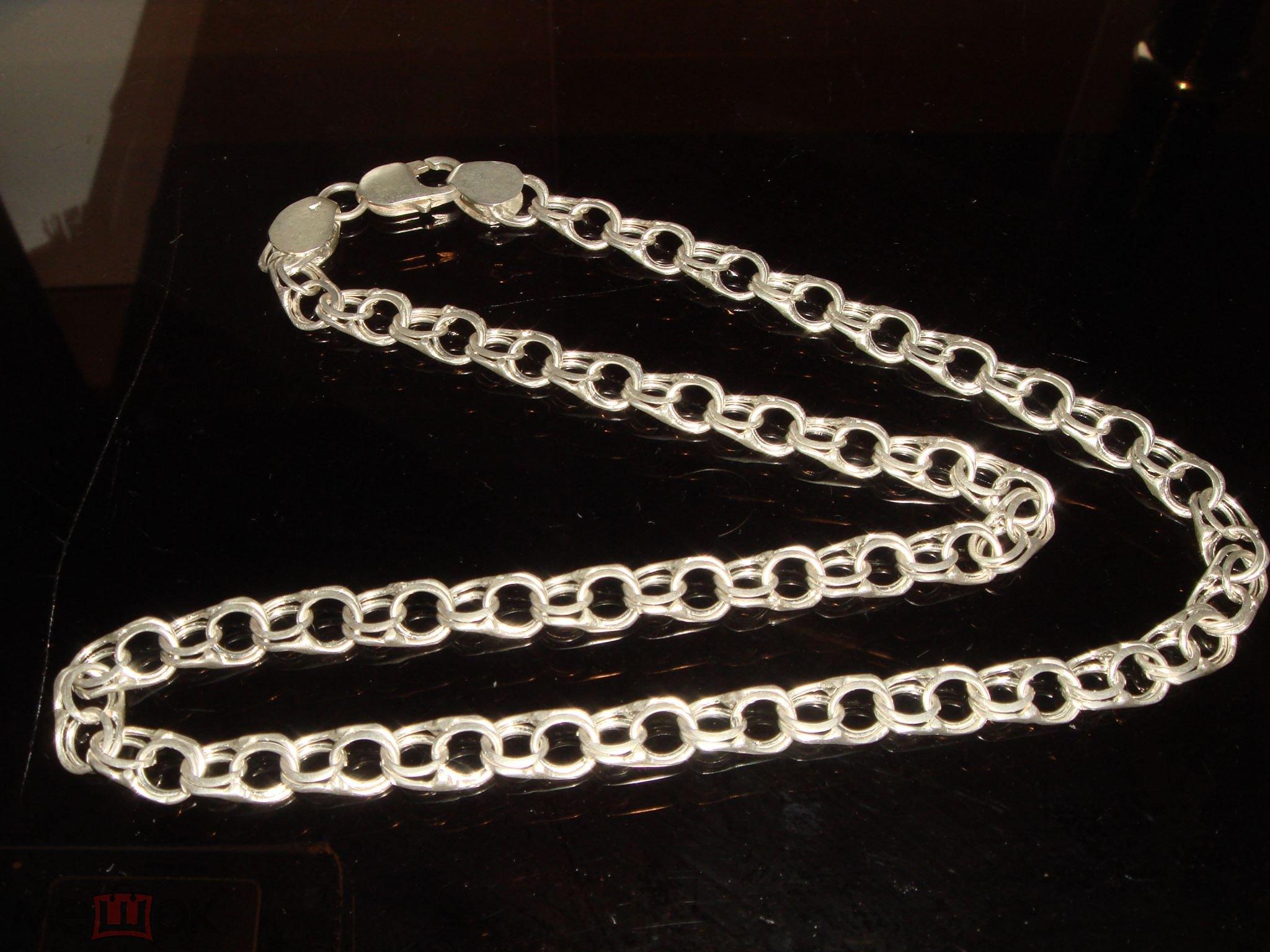 Серебряная цепочка в подарок 308