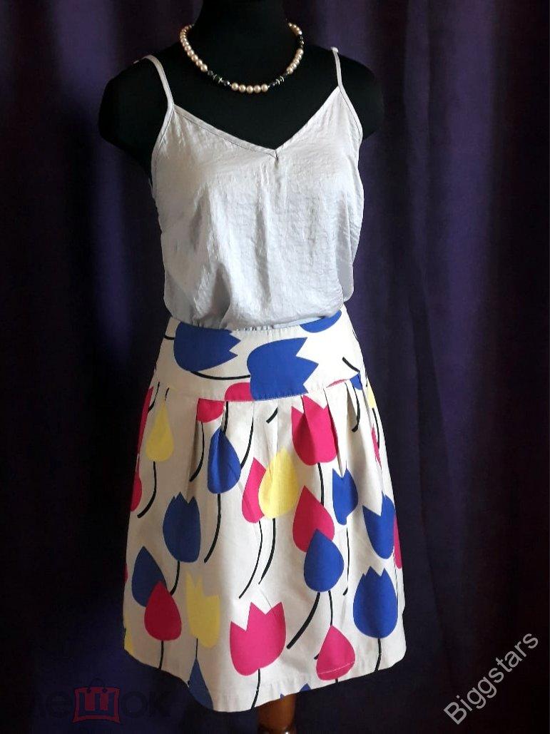 """Стильная, нарядная юбка """"Тюльпаны"""" Европа- Laura Ashley, Распродажа!!"""