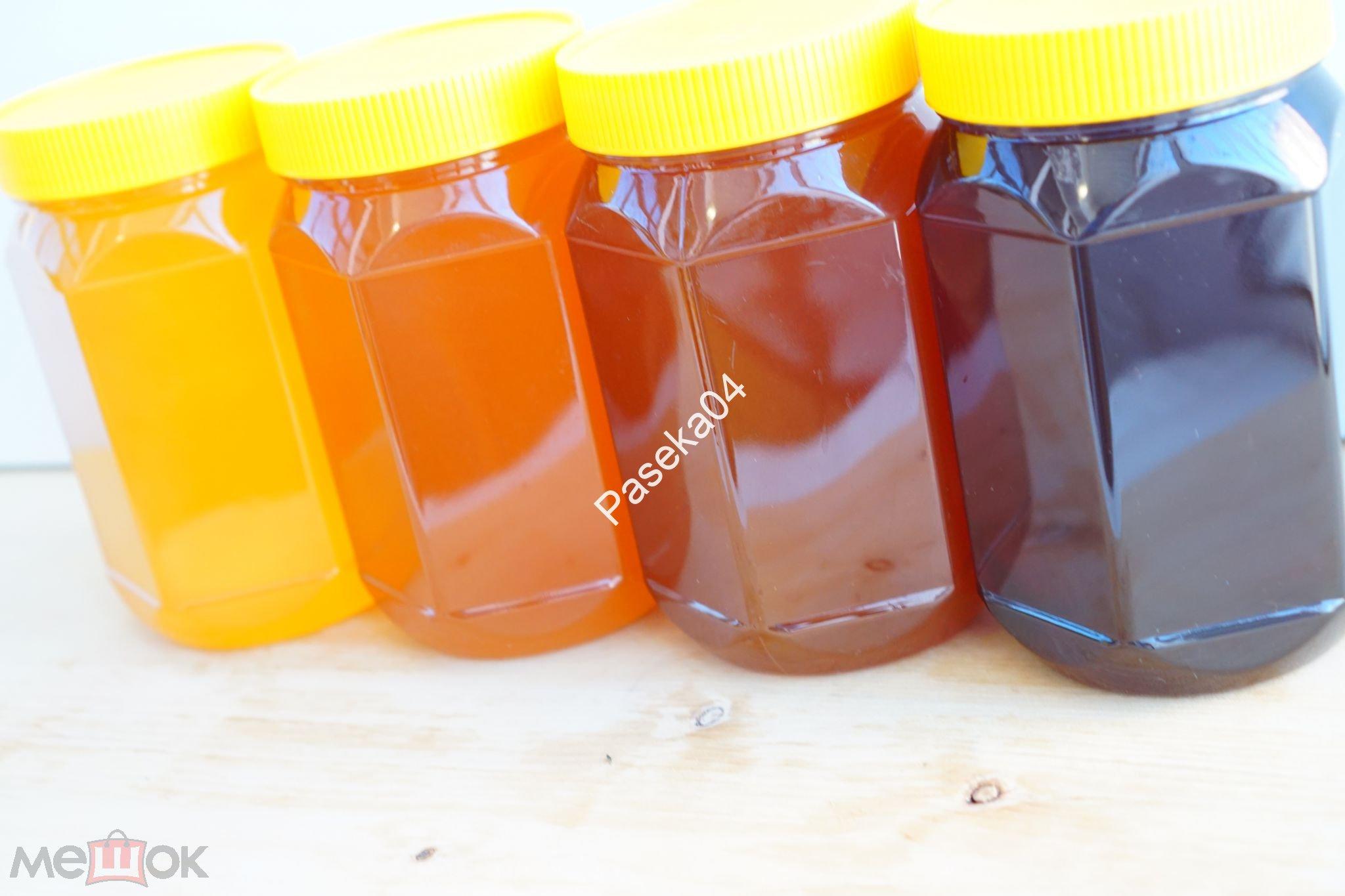 Медовая Коллекция / 4 сорта по 0,5 л. / Набор Горного Алтая / + Вкусные подарки!