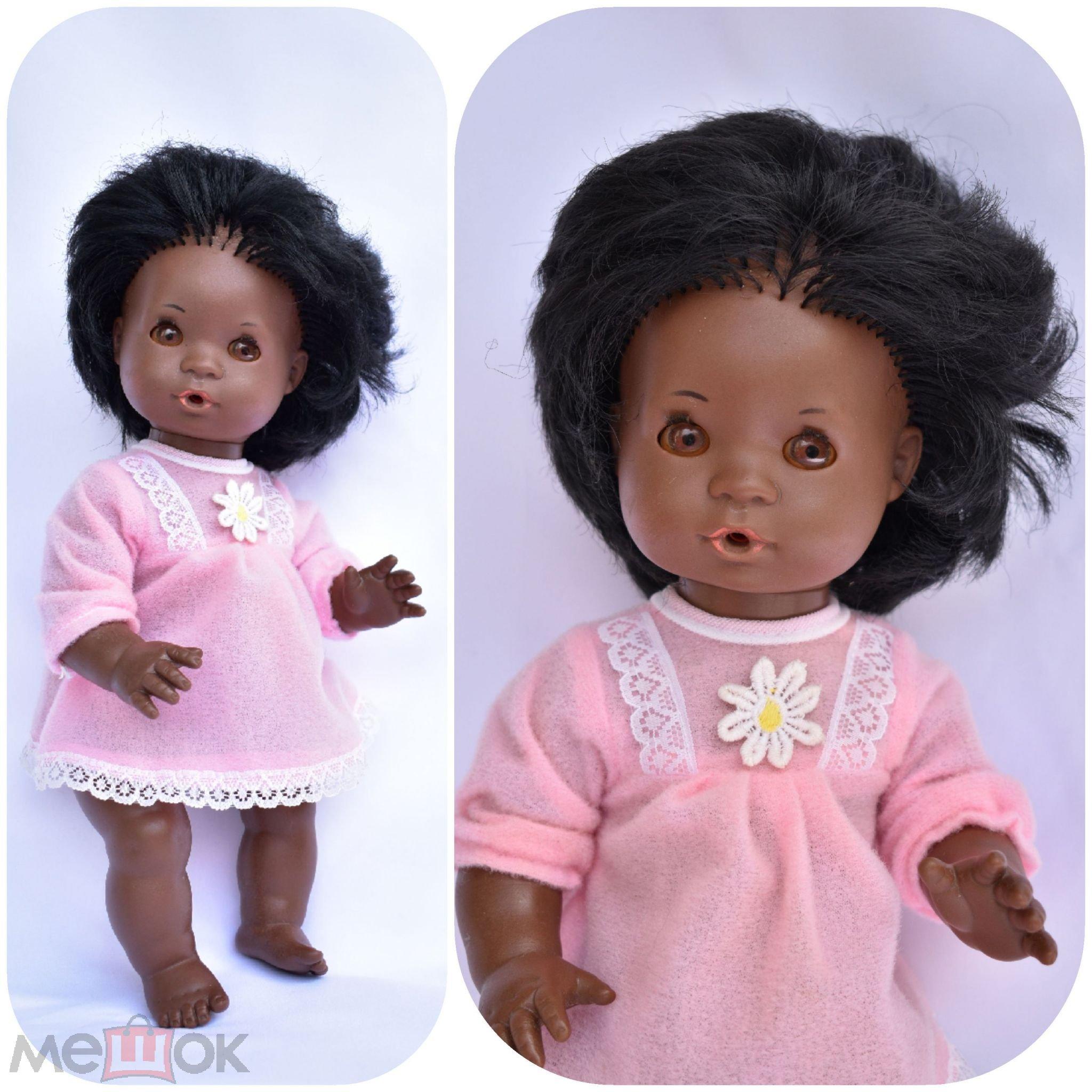 Кукла негритянка,мулатка,негритёнок,негр, Schildkrоt Черепаха Шильдкрет,32 см.Черепашка африканка
