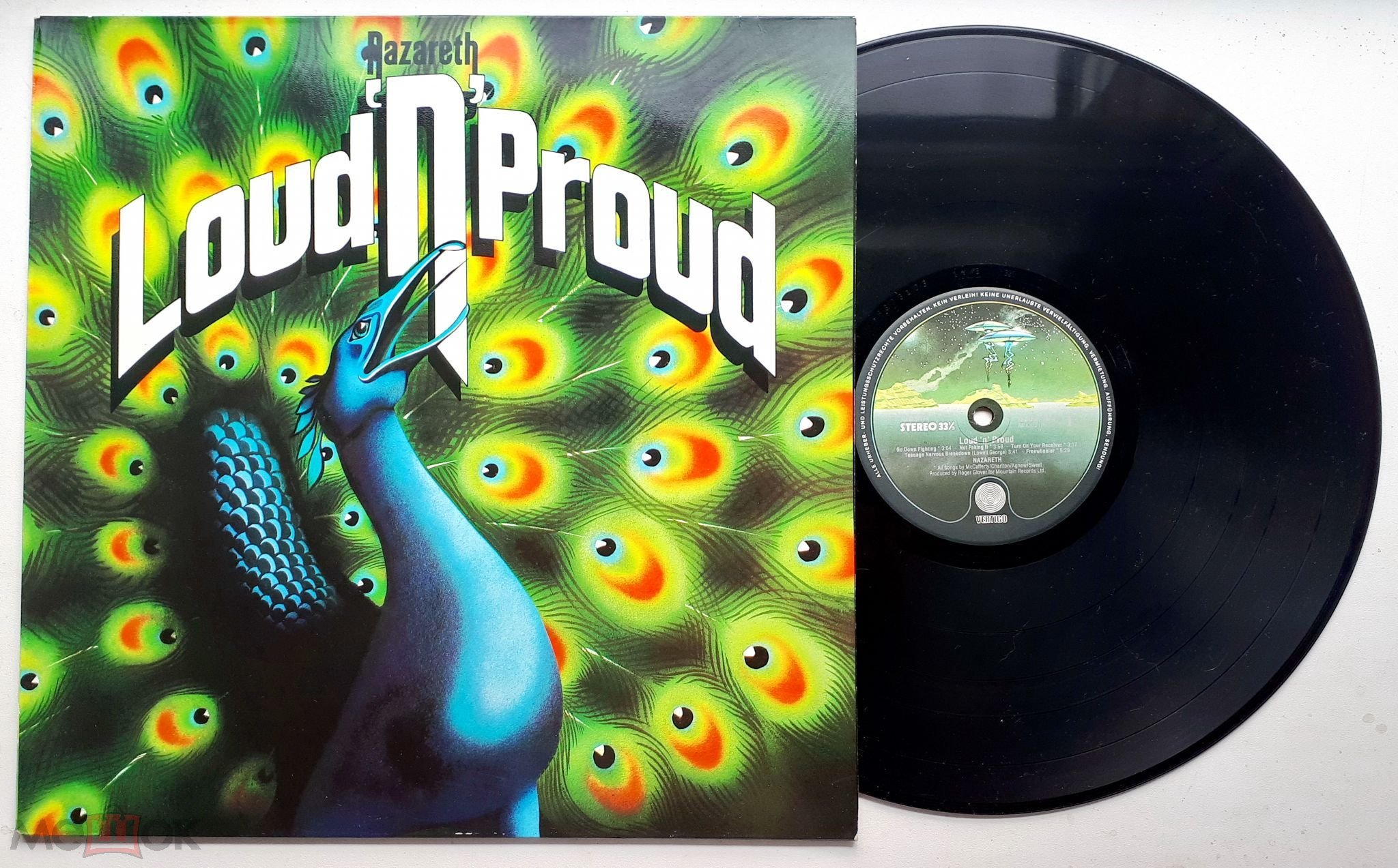 """LP Nazareth  """"Loud""""n""""Proud"""" Germany  NM/NM"""