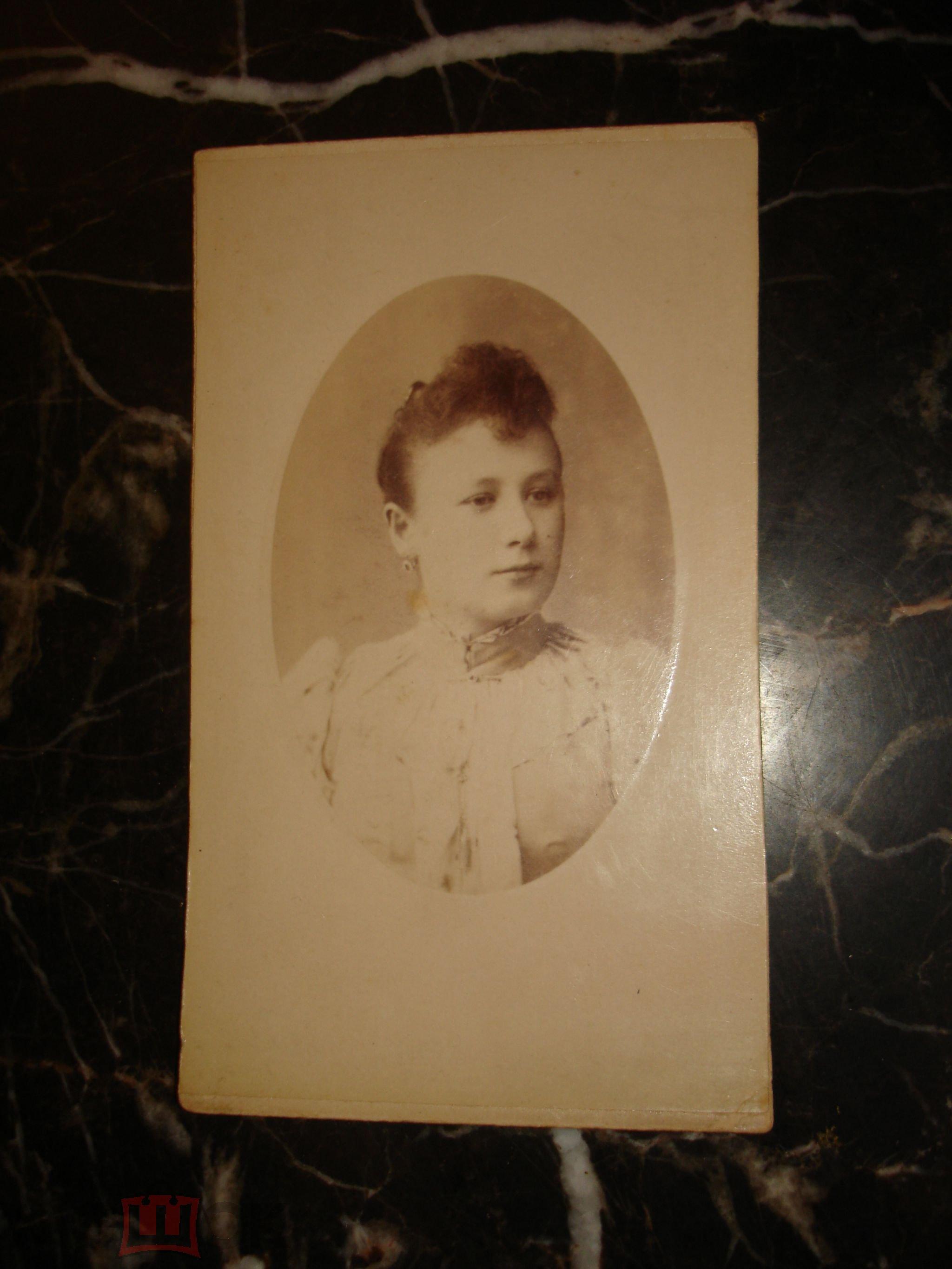 db82551fe28 Старинный визит-портрет.ДАМА.ДЕВУШКА
