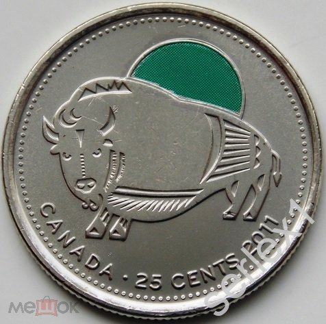 Канада 25 центов 2011 упаковка для юбилейных монет