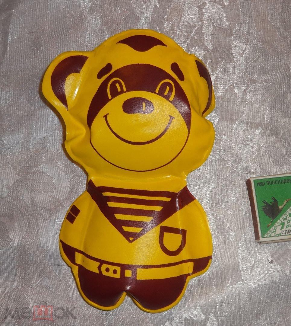 мишка медведь моряк матрос надувная игрушка ссср 1984 целый 21 см отличное