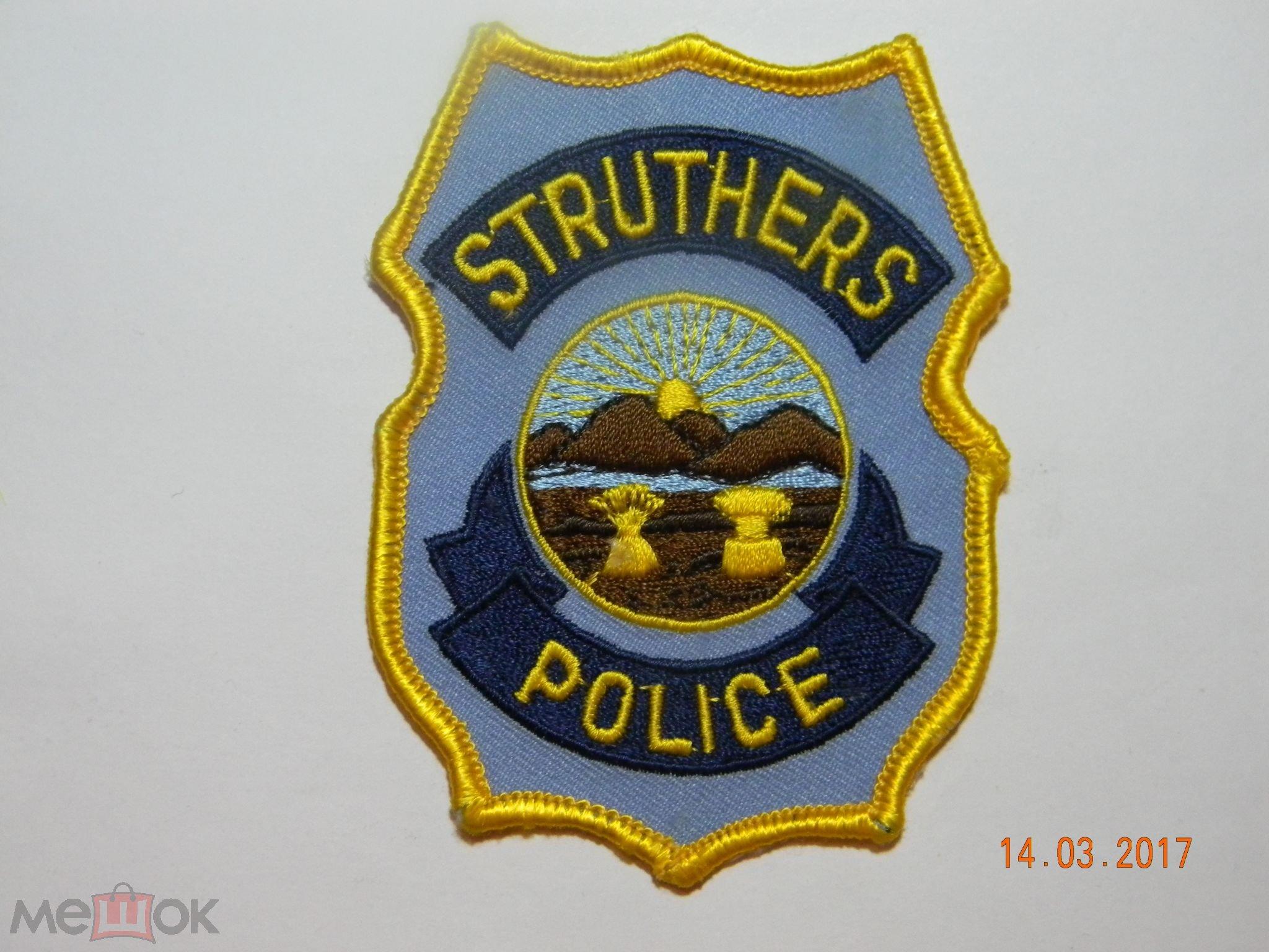 Шеврон.   США.  Штат Огайо. Графство Махонинг.    Полиция г. Стратерс.