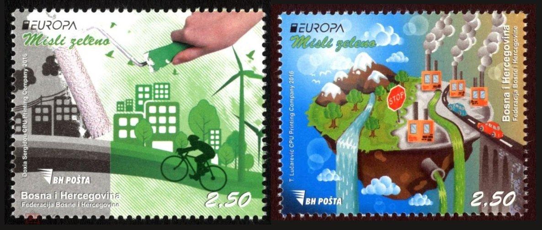 2016 Босния и Герцеговина 687-688 Европа. Экология. Думай по-зеленому