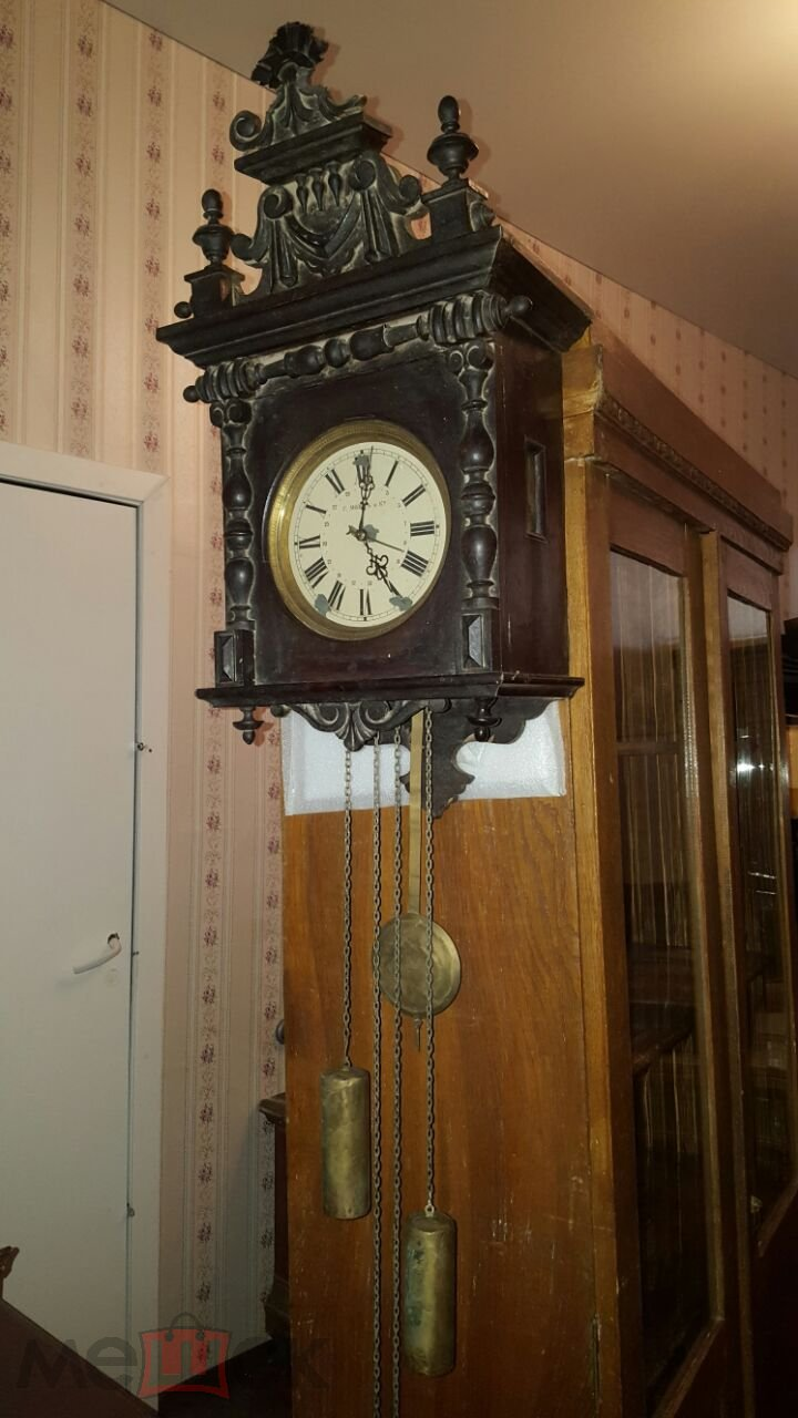 4fc428852bfbe Старинные настенные часы Мозер с гирями