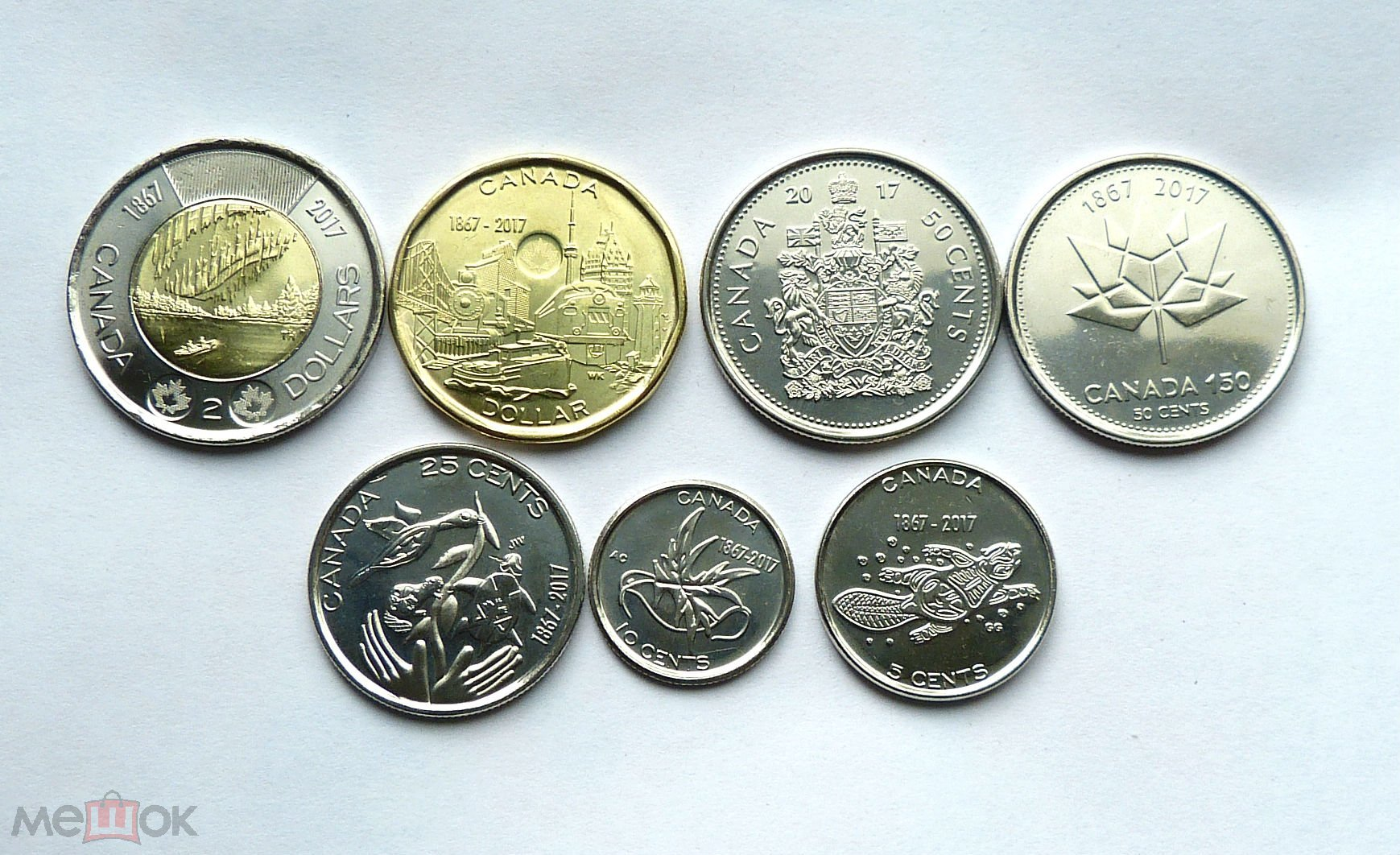 Канада 150 лет конфедерации 2017 набор монет цена 3 копейки 1961 года