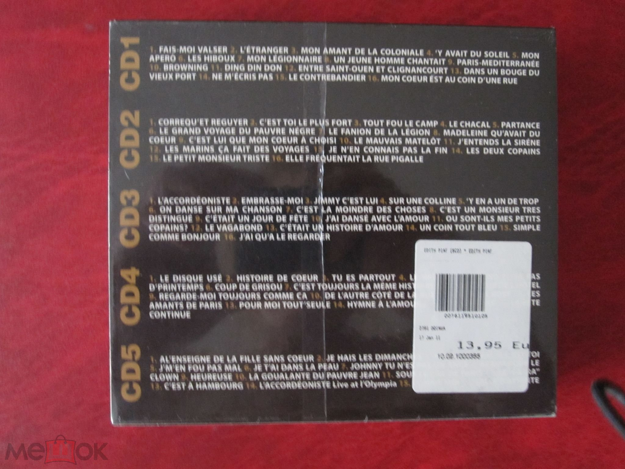 Edith Piaf 2006 5 Cd в упаковке Deja Vu Italy торги